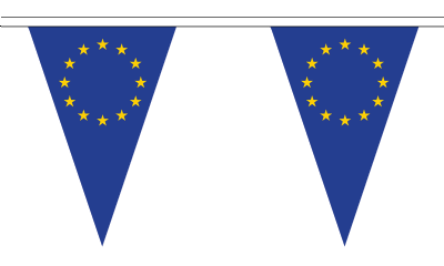 European Union EU Triangular Flag Bunting - 20m Long - 54 Flags